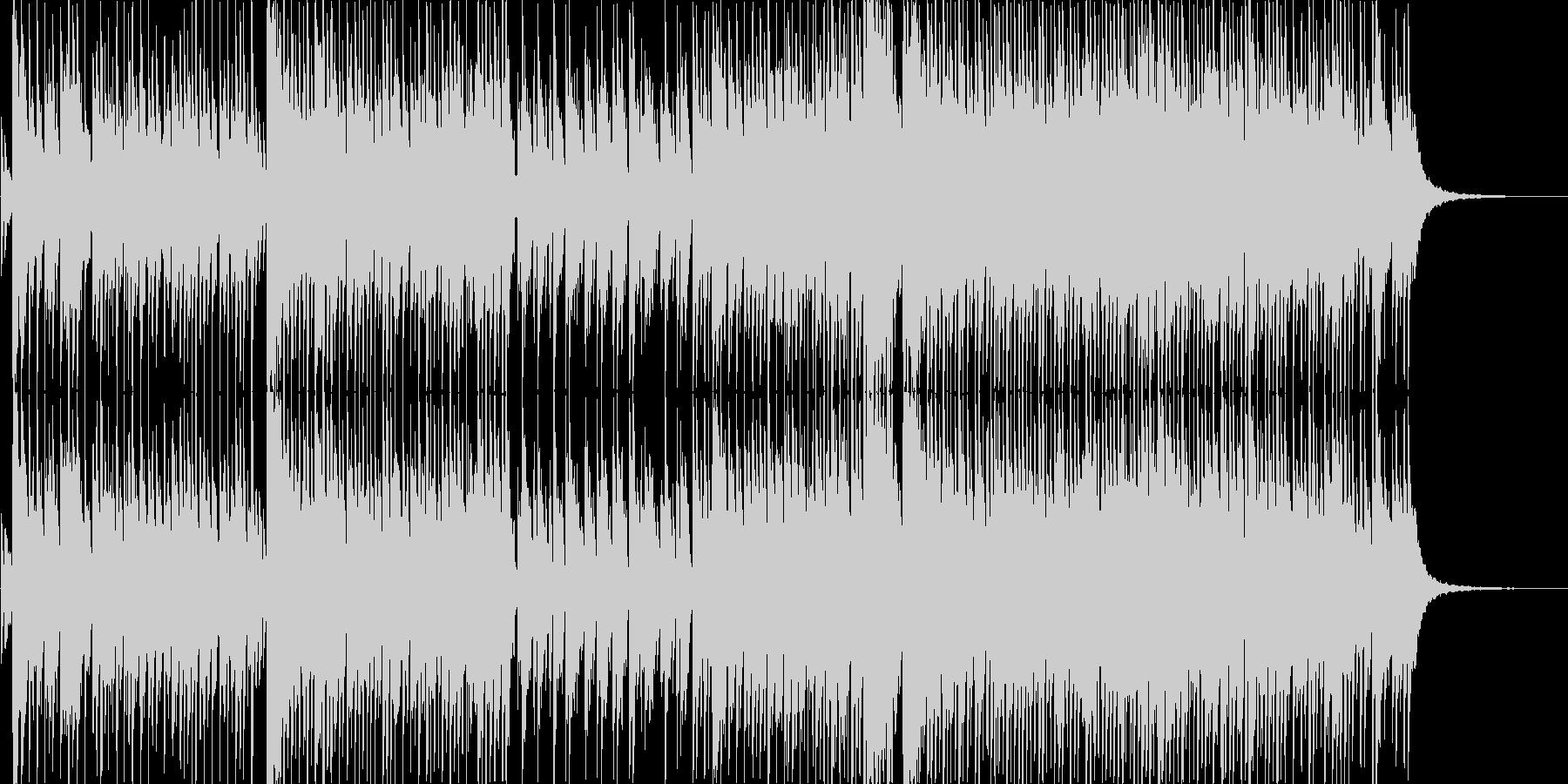 アイドルソング風のインスト楽曲の未再生の波形