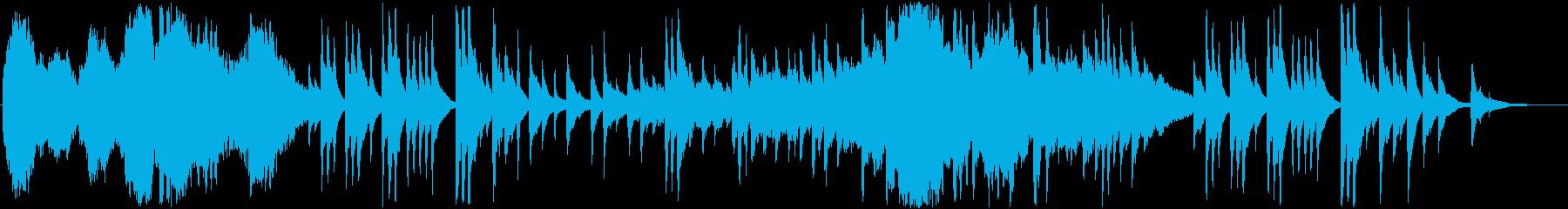 情景的で日本風な落ち着きのあるBGMの再生済みの波形