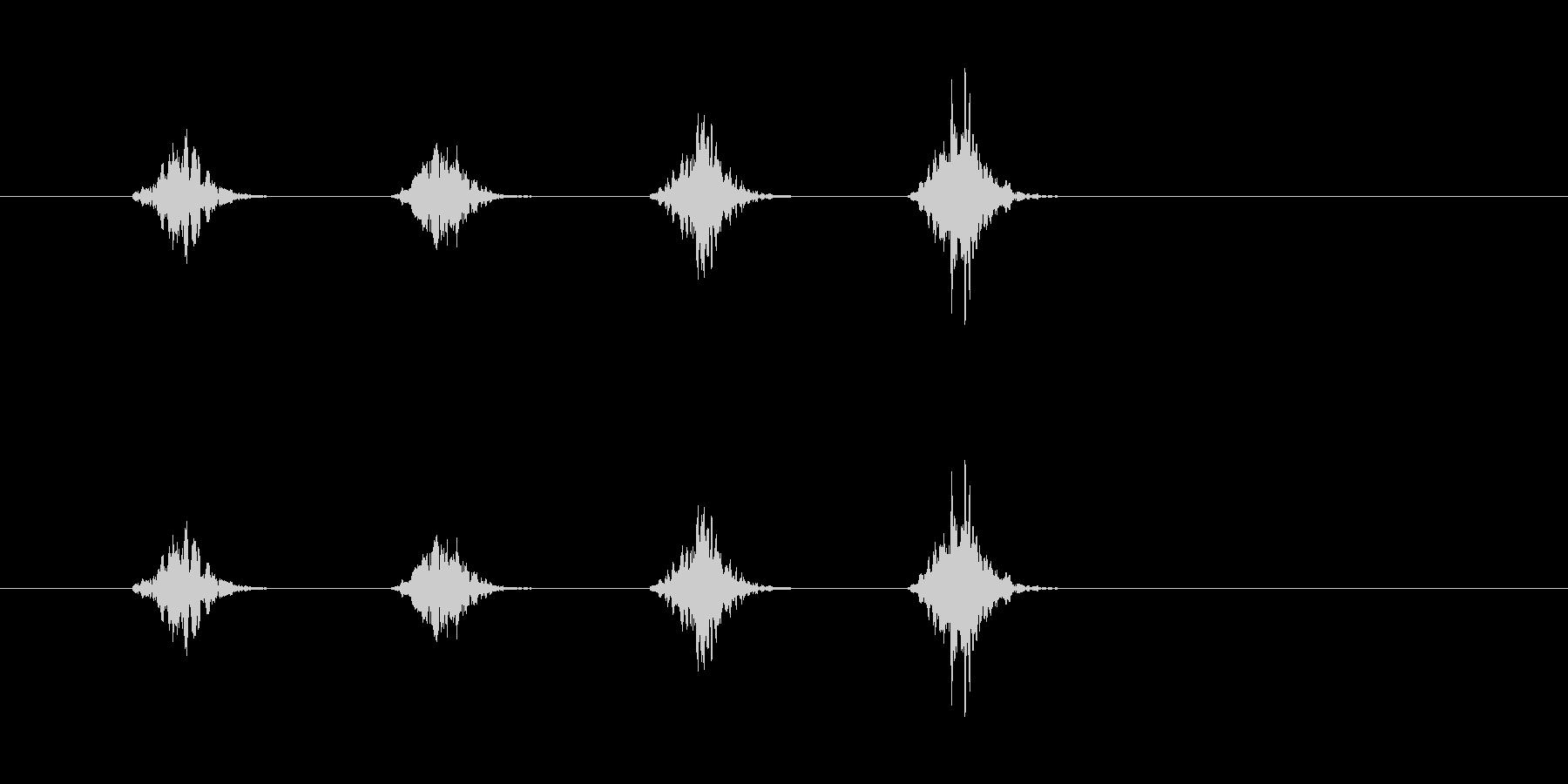ポップ消失の未再生の波形