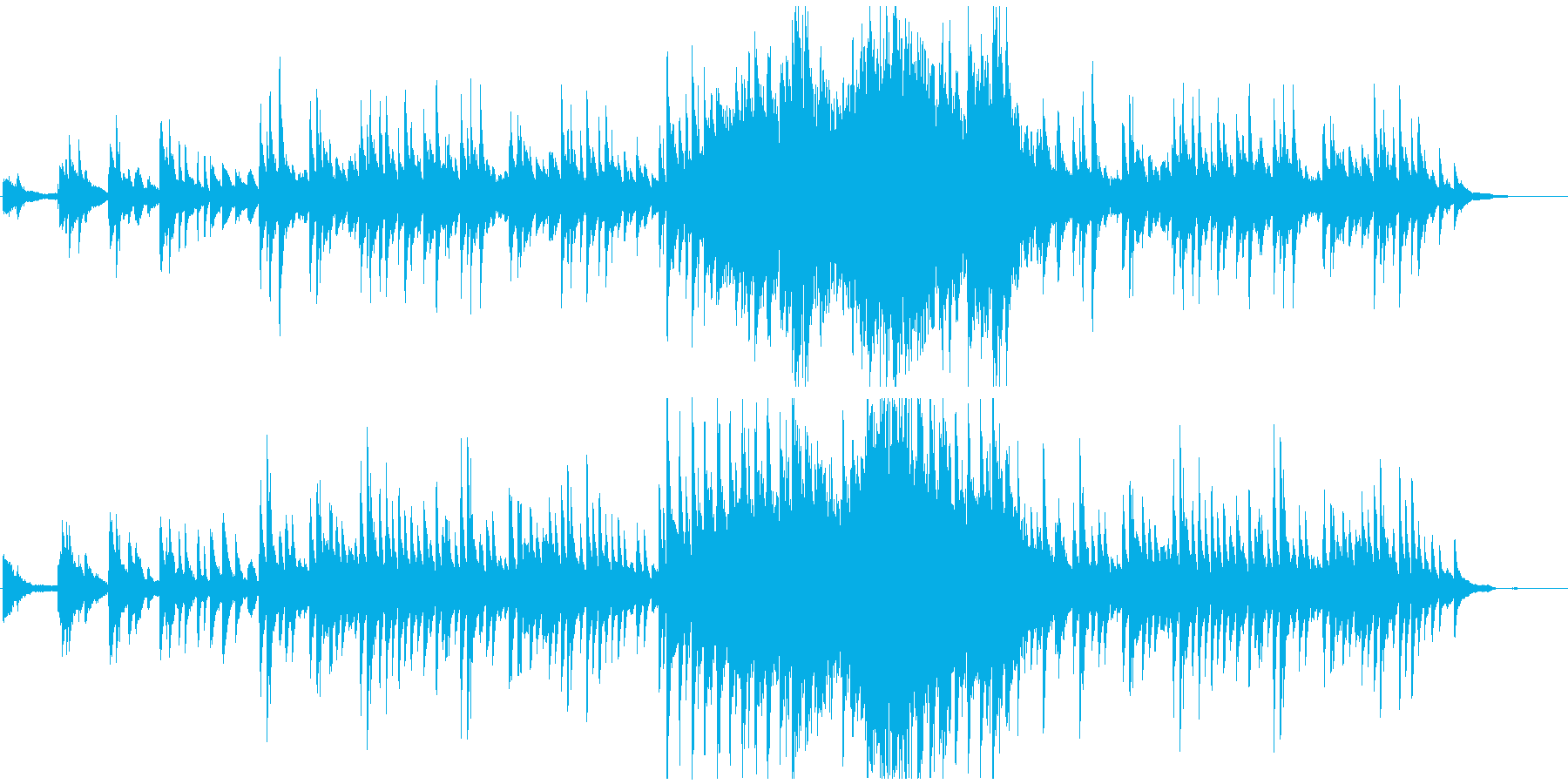 癒しのピアノ曲の再生済みの波形