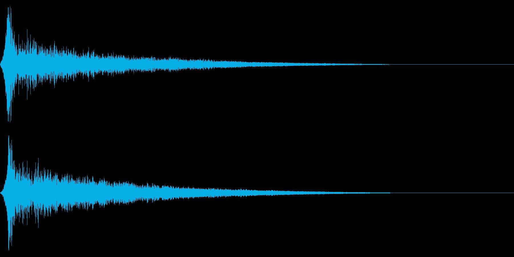 ホラー系アタック音129の再生済みの波形