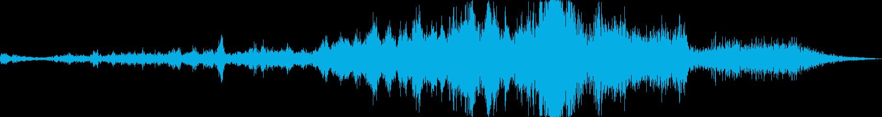 戦闘機上空通過(長め、高音)の再生済みの波形