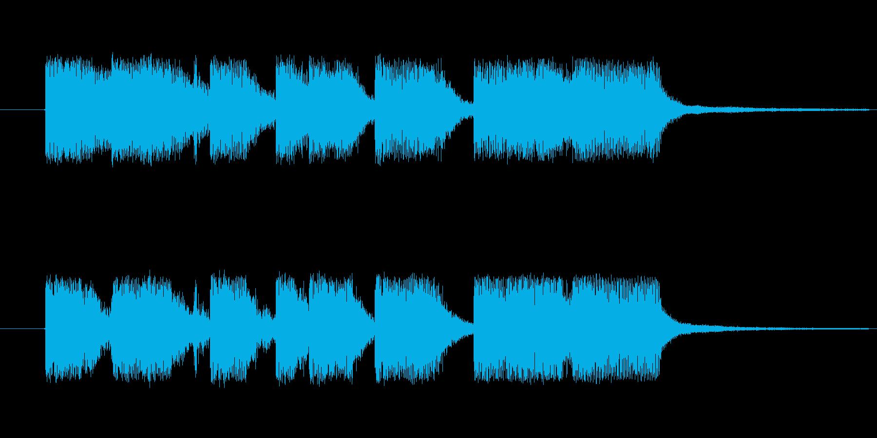 ゲームオーバーやクリアのジングルですの再生済みの波形