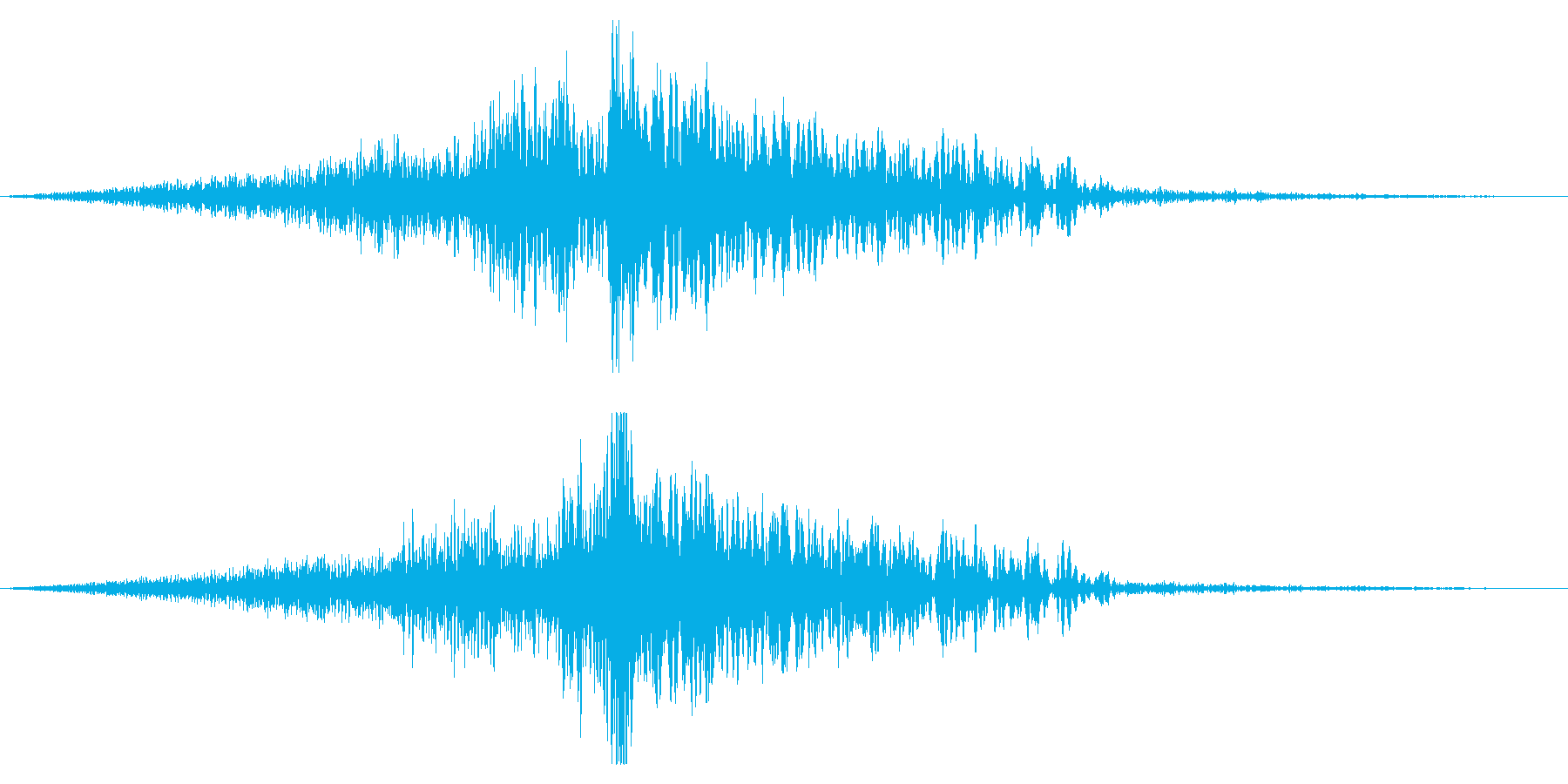 ホラー系アタック音116の再生済みの波形
