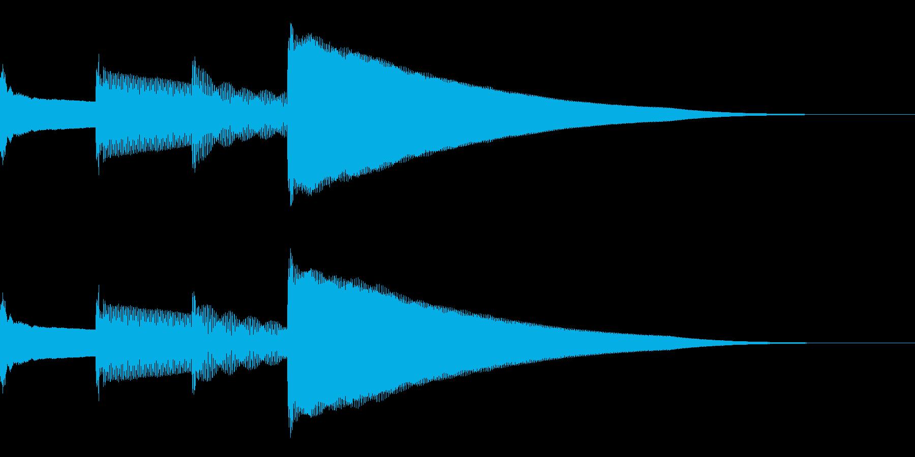呼び出しベル 上昇(ピンポンパンポーン)の再生済みの波形