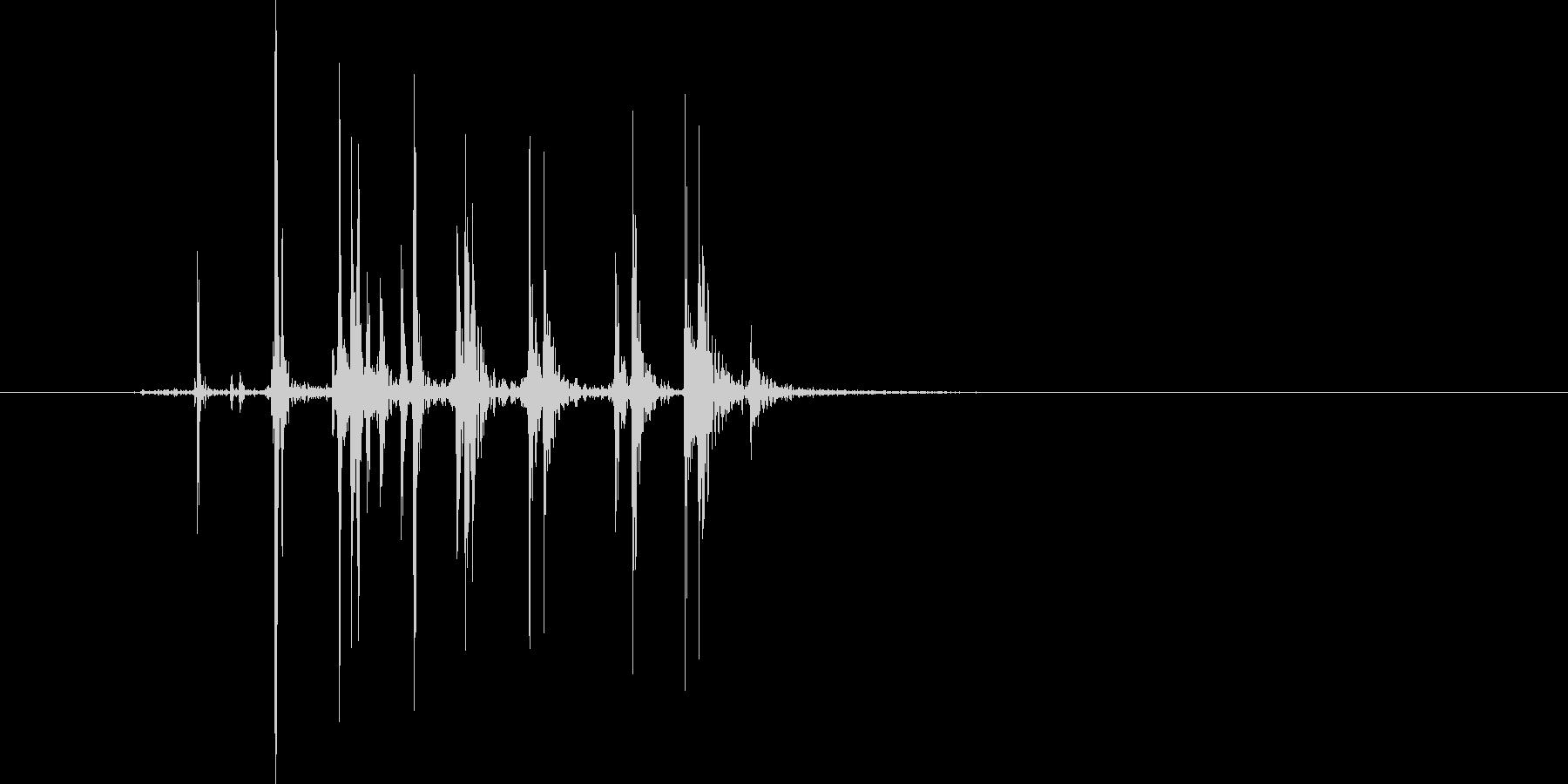 ベリッ(開封、箱、紙)の未再生の波形