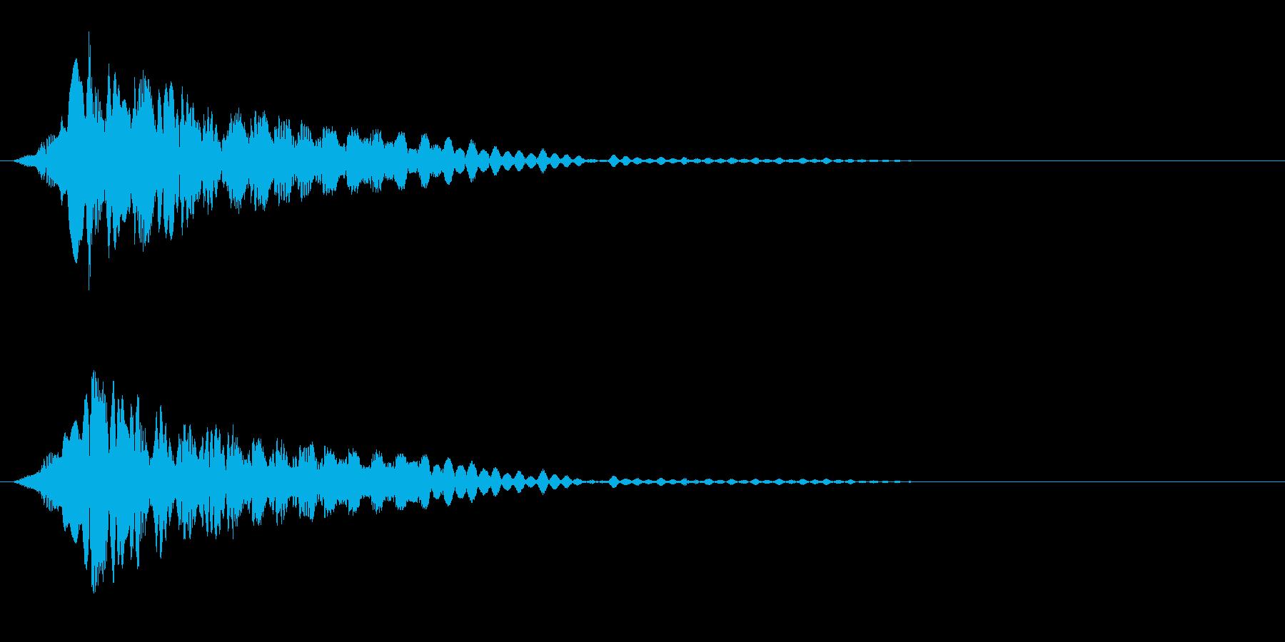 電子系 何かを開ける音の再生済みの波形