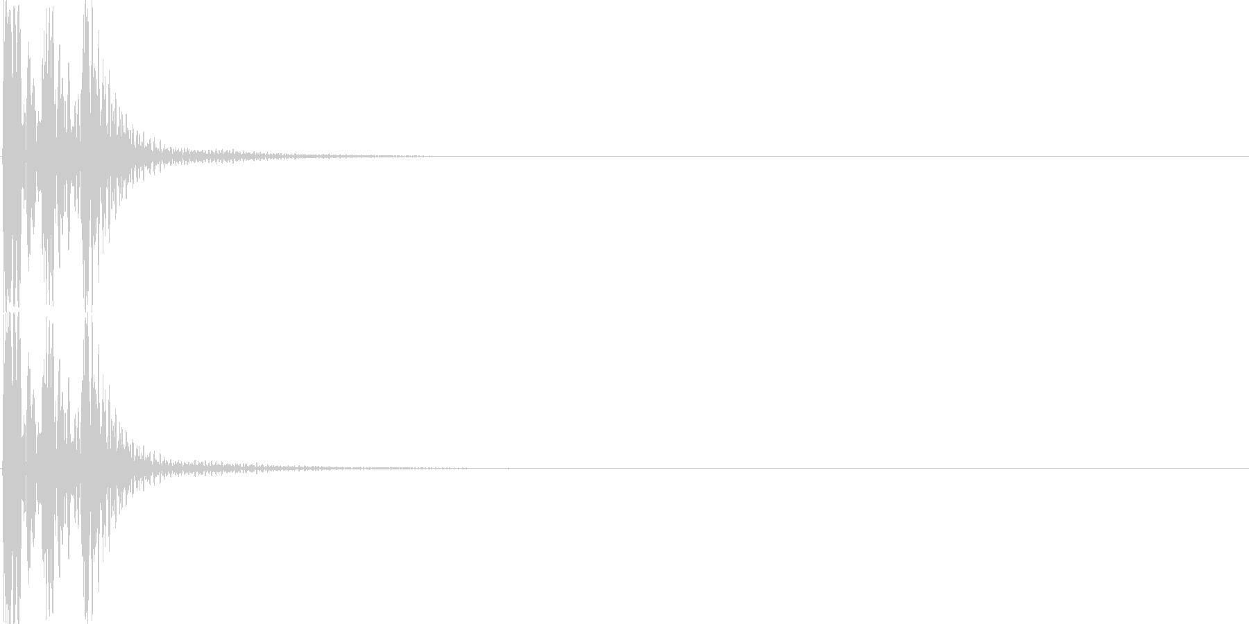 クリック(ゲーム、アプリ等の操作音02)の未再生の波形