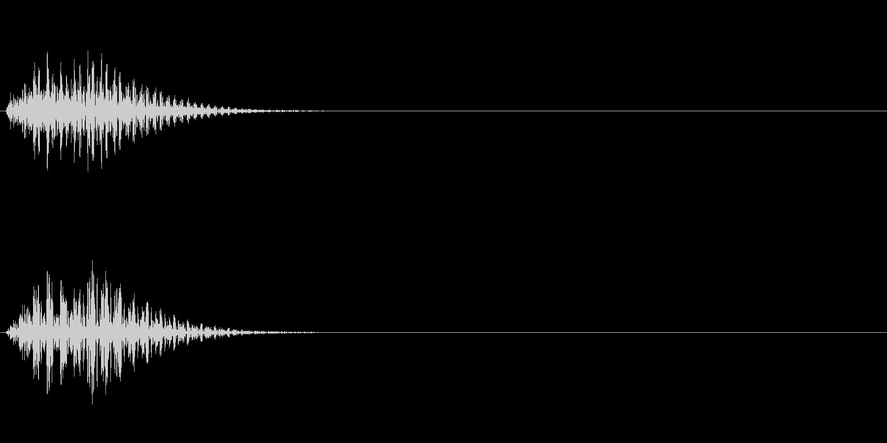 正解音や効果音。ででんっ♪(低い)の未再生の波形