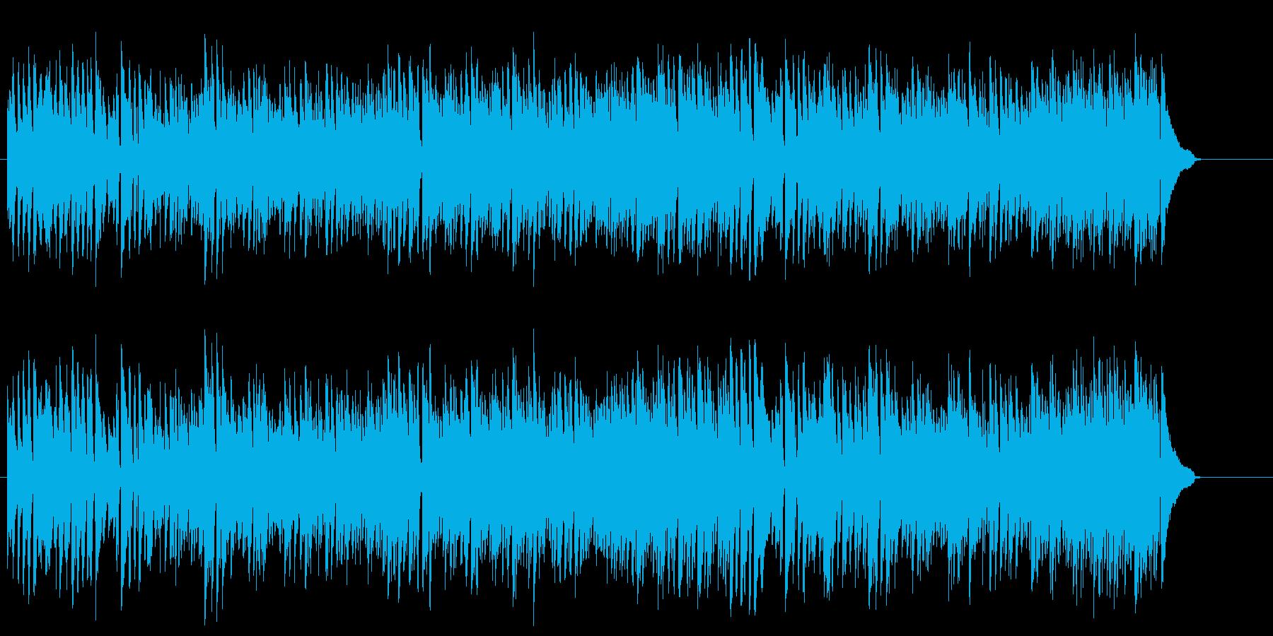 スタンダードな4ビート・ジャズの再生済みの波形