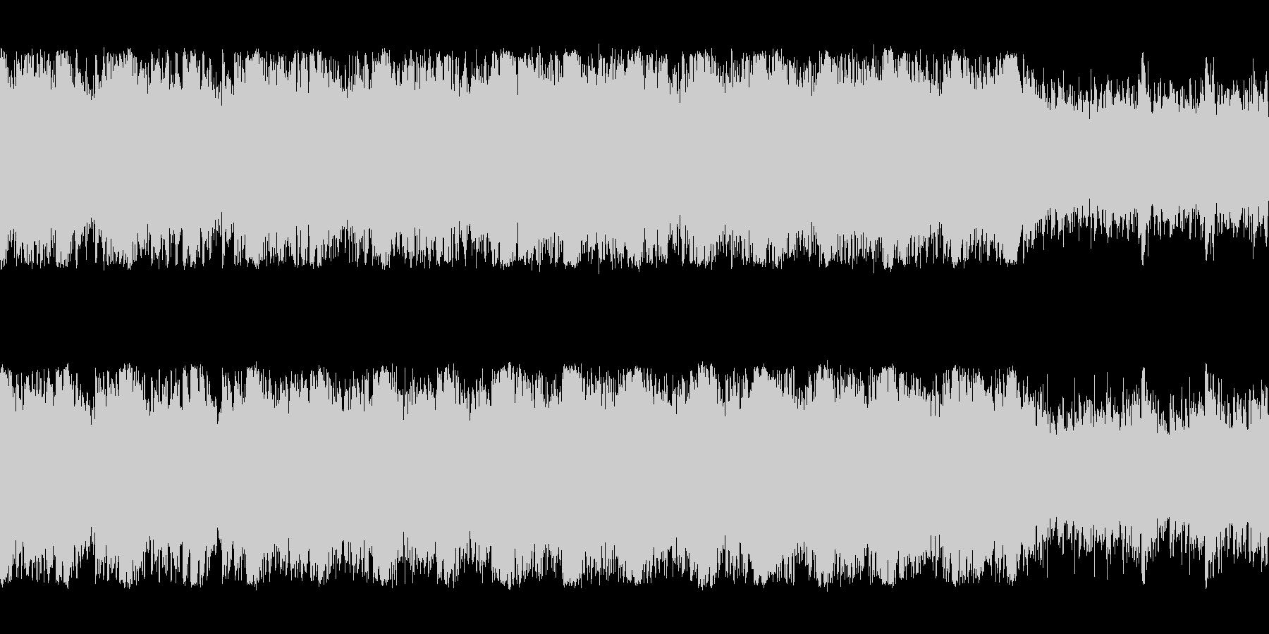 緊迫感のあるオーケストラ編成の暗いBGMの未再生の波形