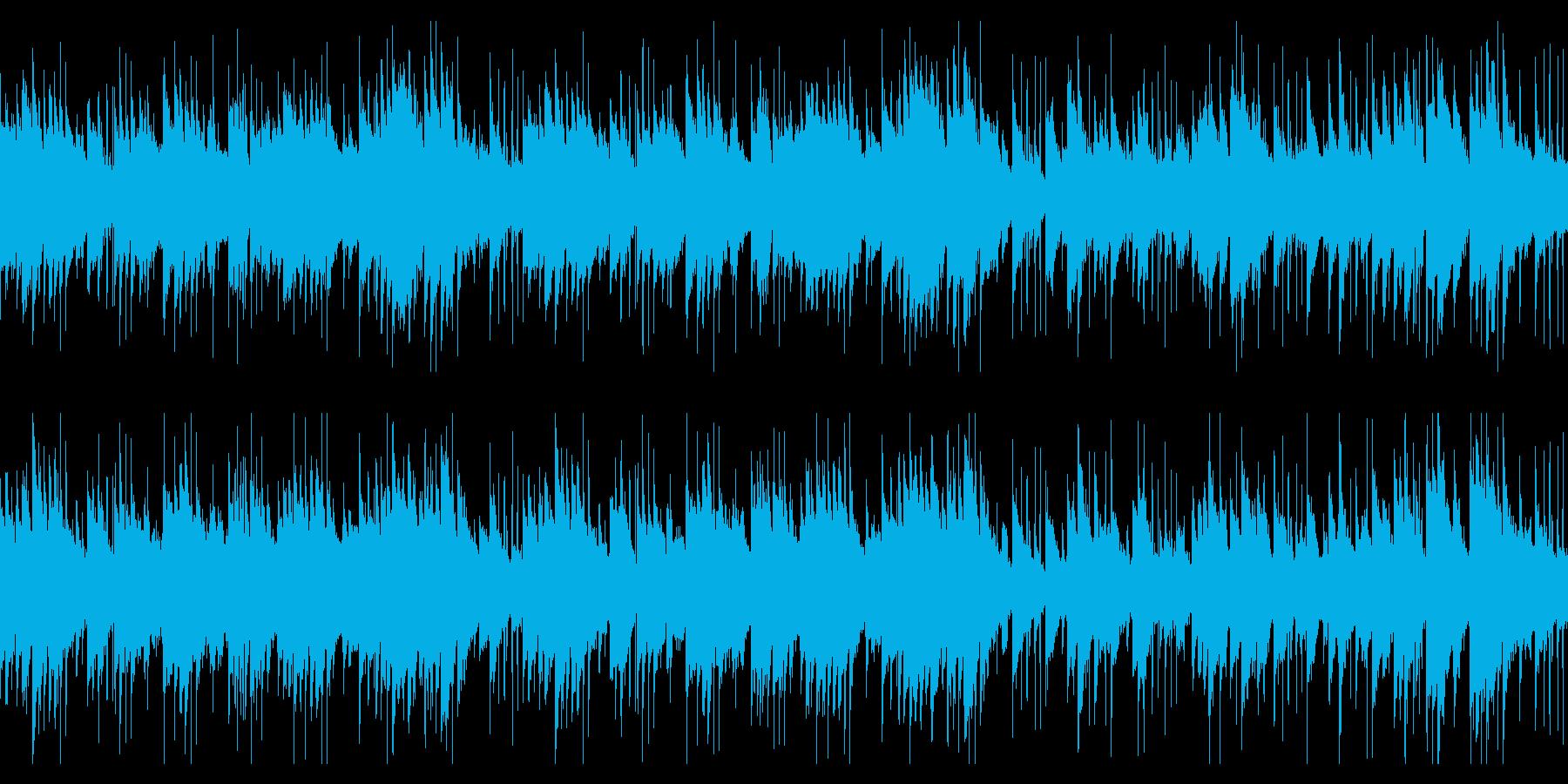 ロマンチックなジャズピアノ曲(ループ)の再生済みの波形