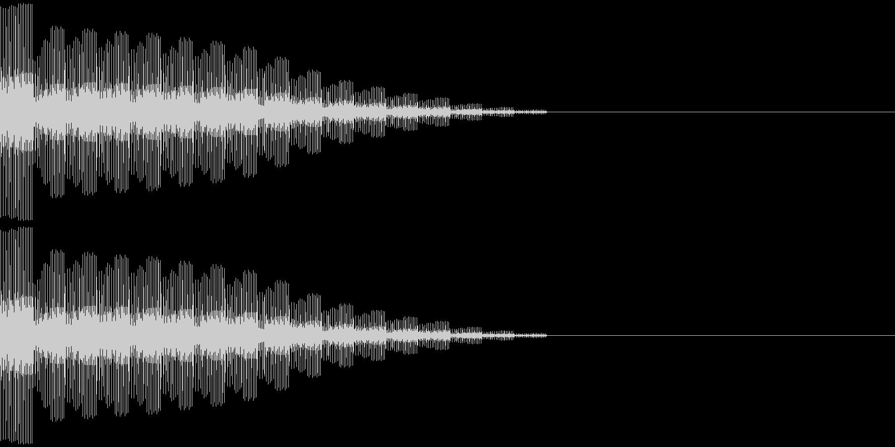 スタート、決定(ピロロ音)の未再生の波形