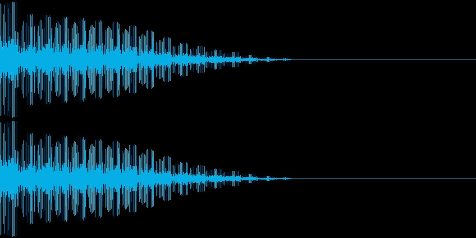 スタート、決定(ピロロ音)の再生済みの波形