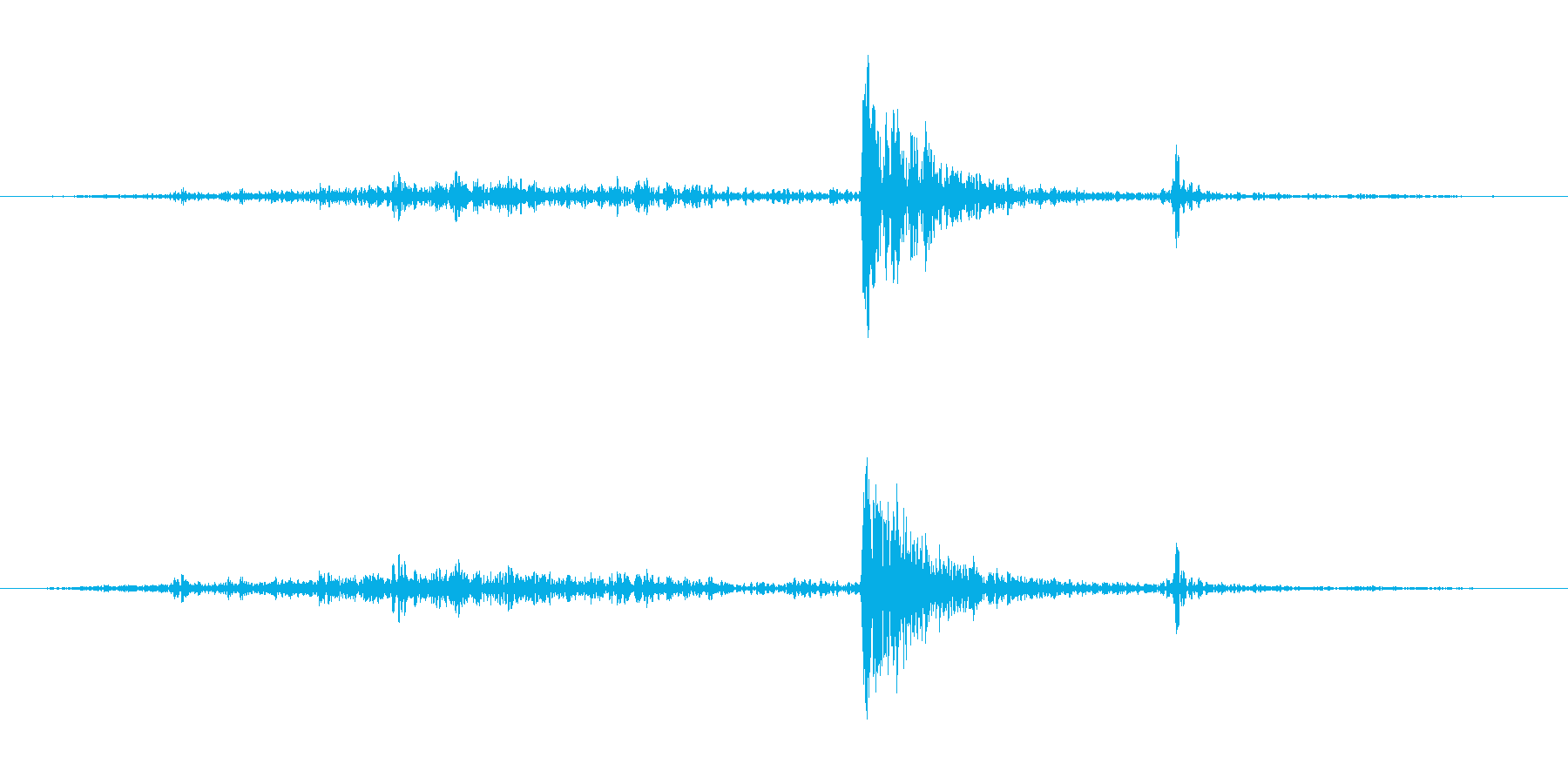 教室の引き戸を開ける音の再生済みの波形