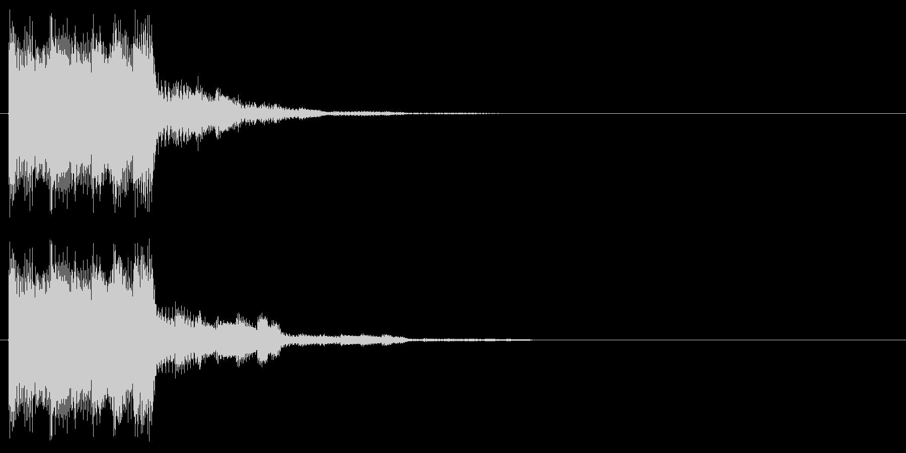 上昇音 シャララ パワーアップの未再生の波形