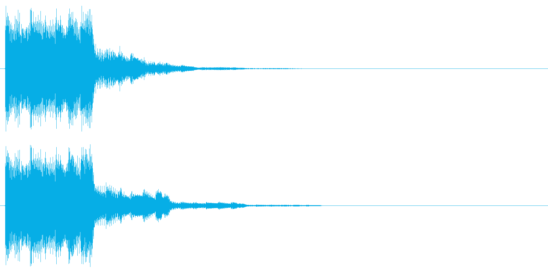 上昇音 シャララ パワーアップの再生済みの波形