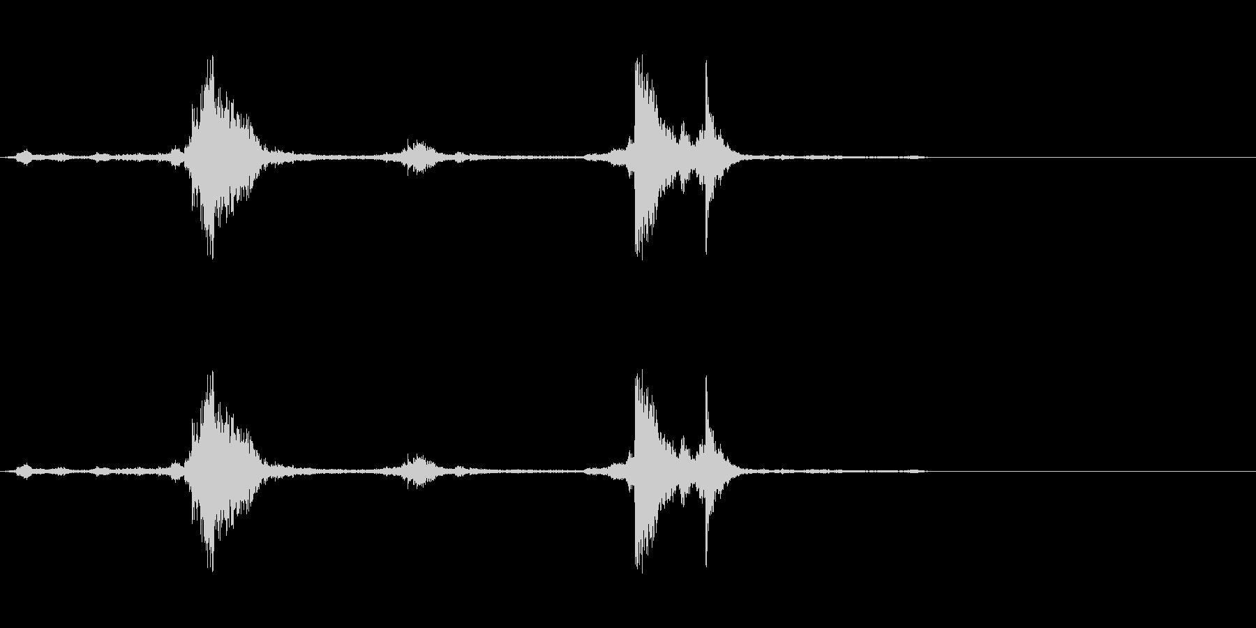 神楽鈴(神社の環境音などに)の未再生の波形