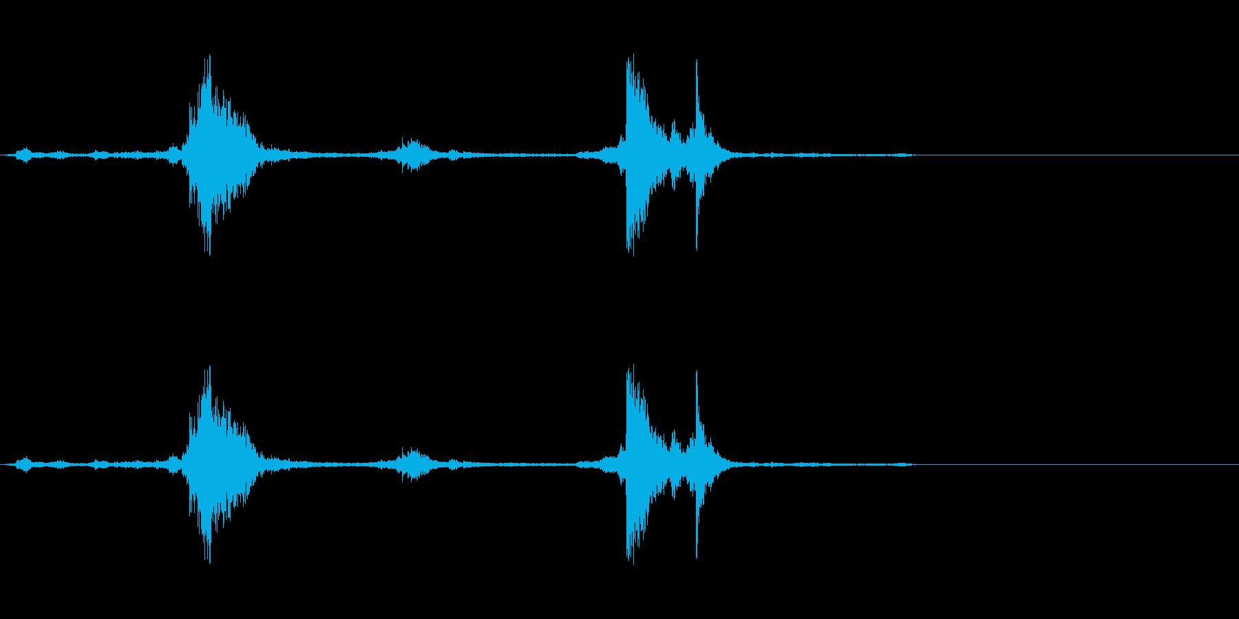 神楽鈴(神社の環境音などに)の再生済みの波形