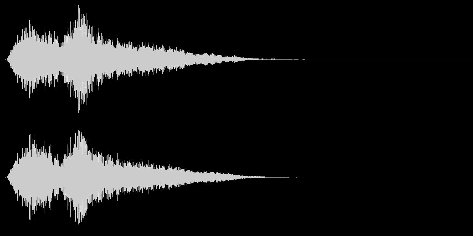 生演奏:重みのある響きの弦楽四重奏の未再生の波形