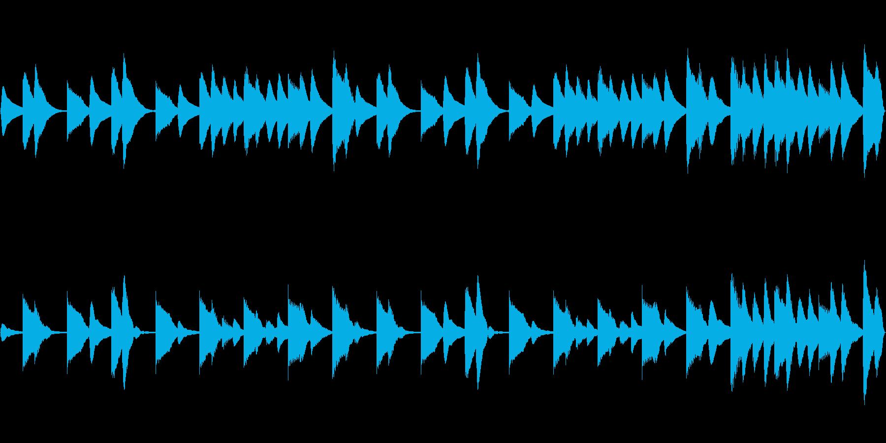 木琴と鉄琴の淡々とした静かなBGMの再生済みの波形