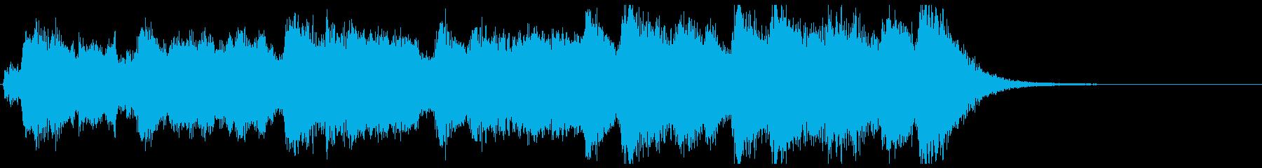 ワールドニュース風フルオケジングル合唱付の再生済みの波形