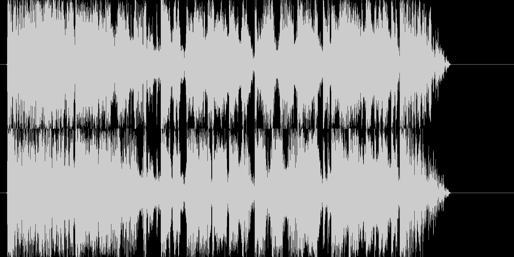 ブレイクビートを基調にした登場系ジングルの未再生の波形