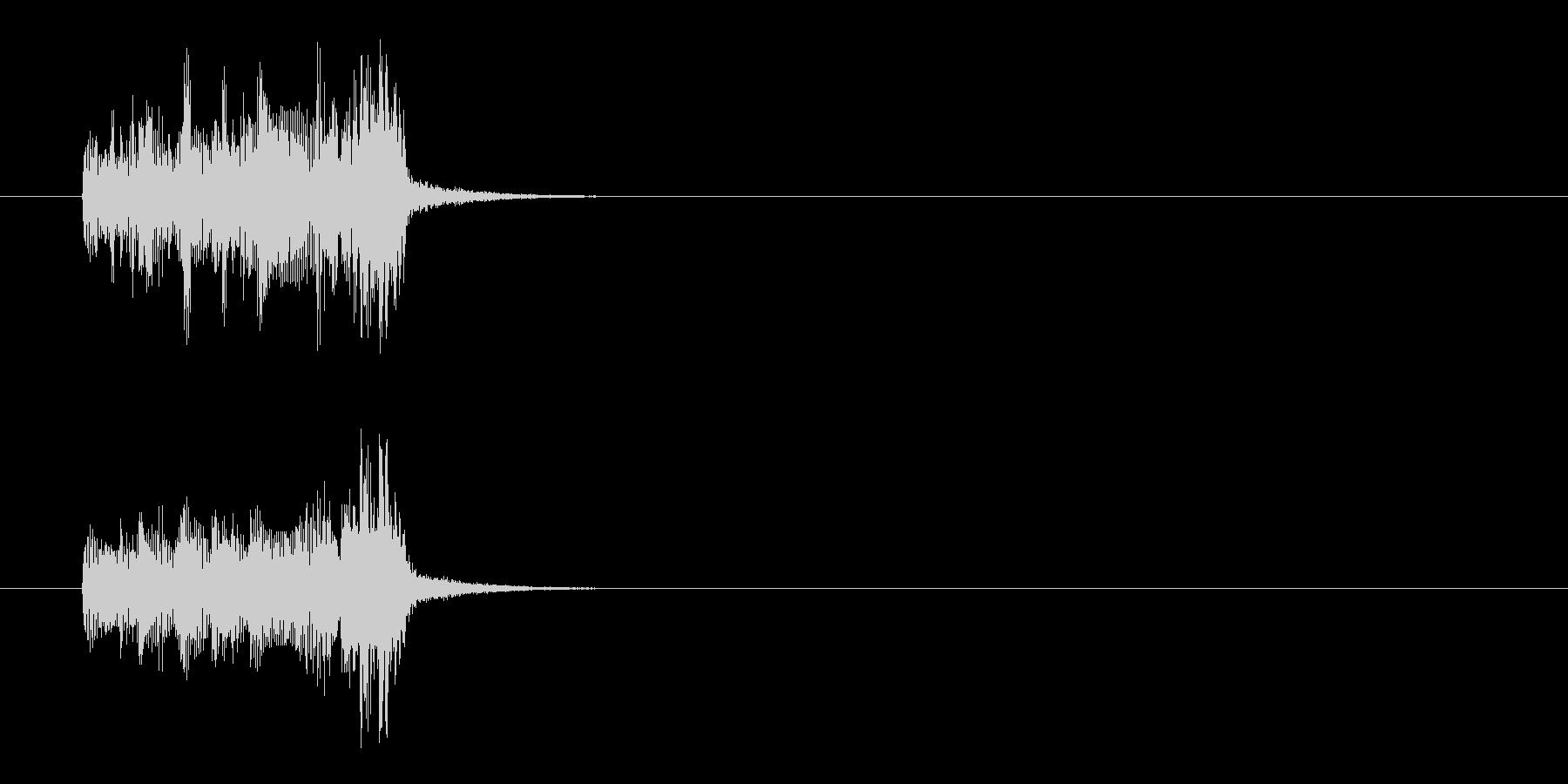 ジングル(キューアタック系)の未再生の波形