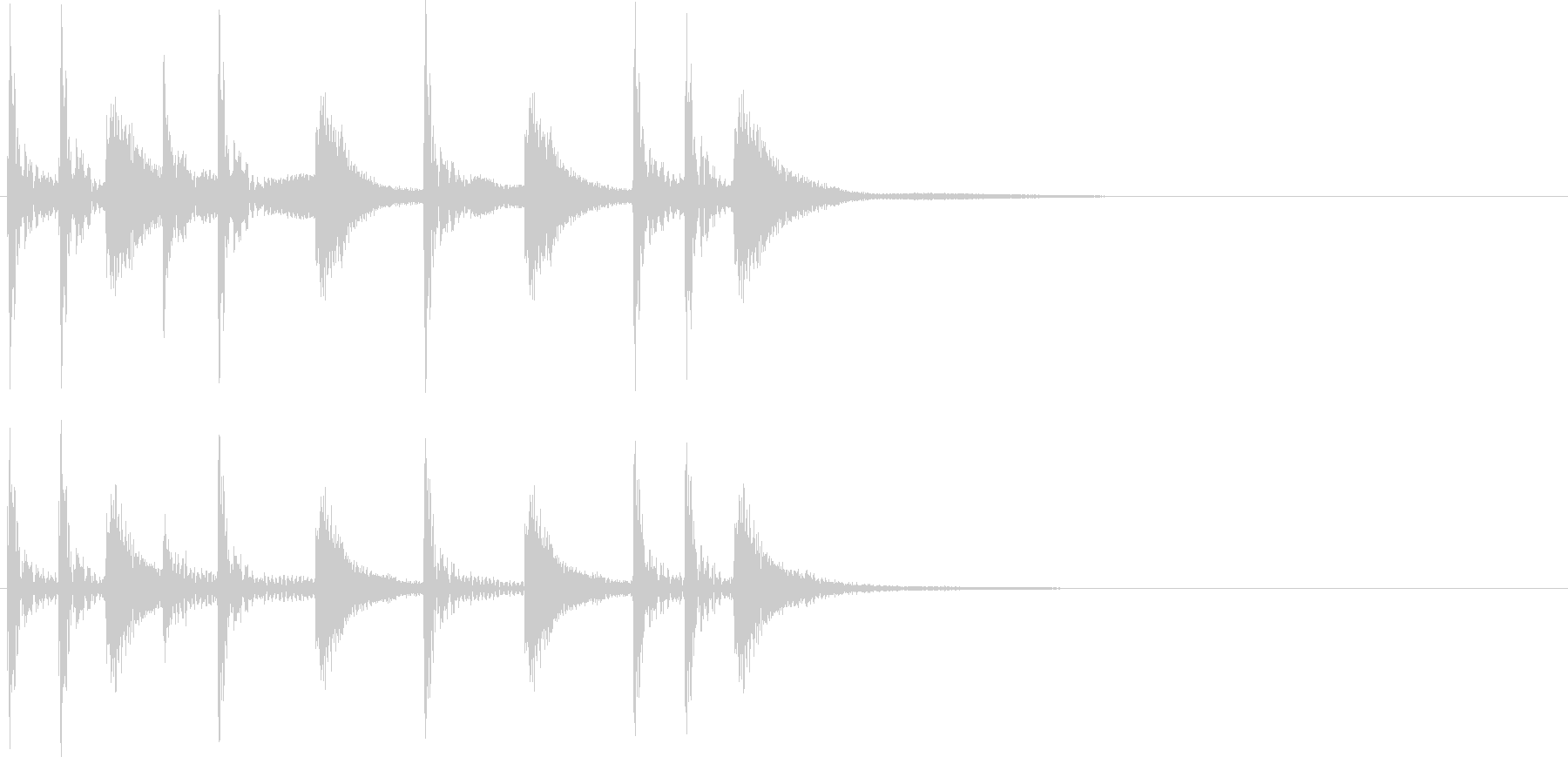 2小節ジングル09 ロックの未再生の波形