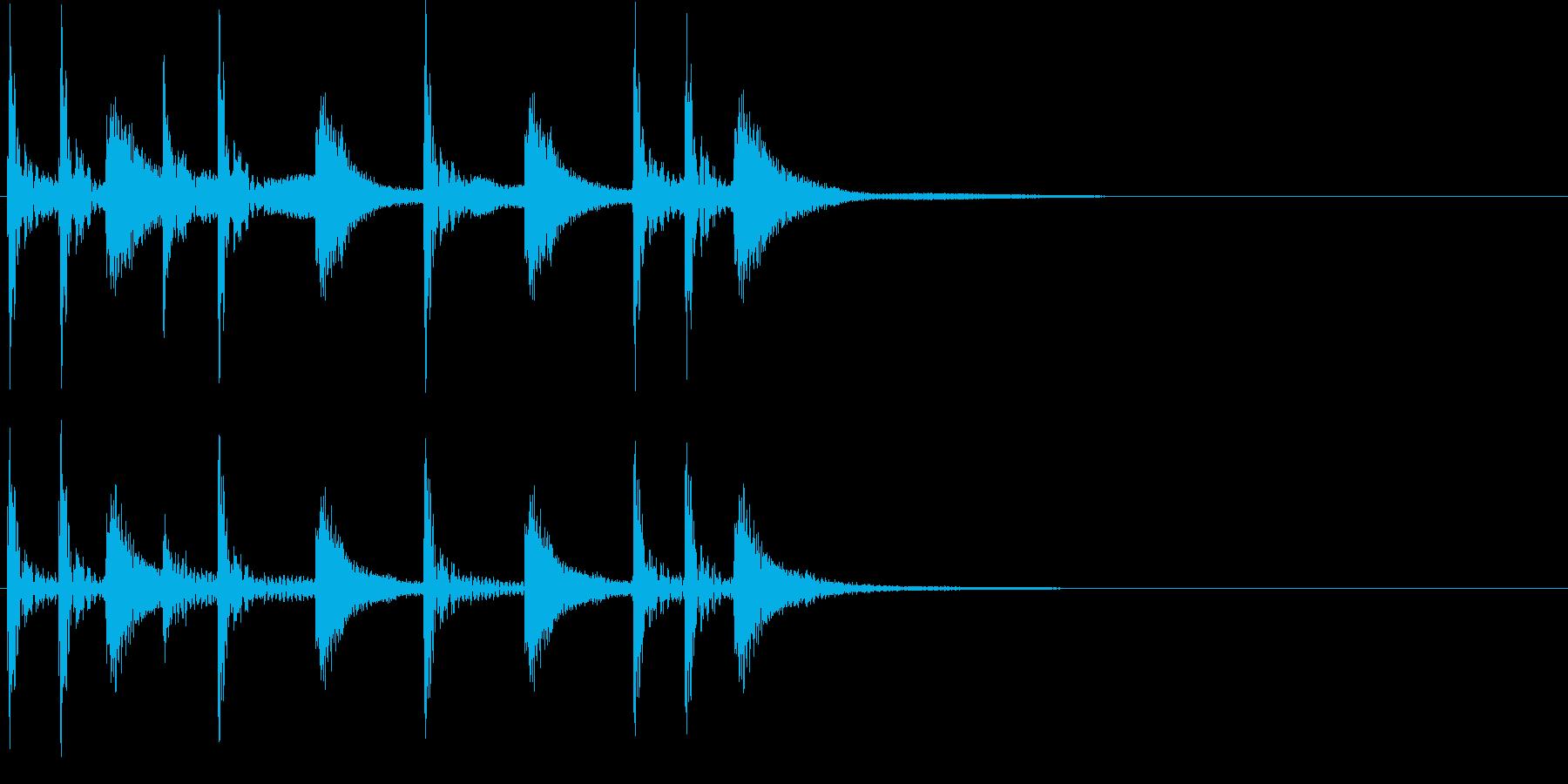 2小節ジングル09 ロックの再生済みの波形