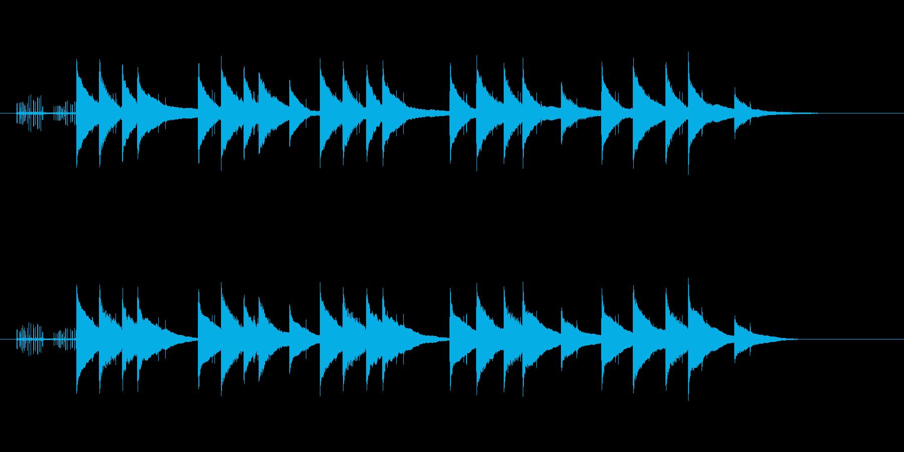 古びた悲しげなオルゴールジングルの再生済みの波形