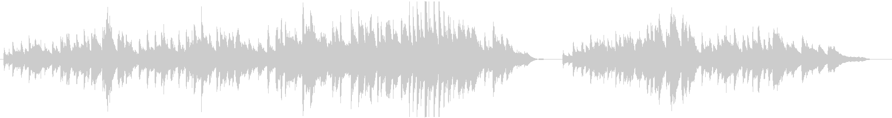 木漏れ日と小鳥のさえずり(ピアノソロ)の未再生の波形