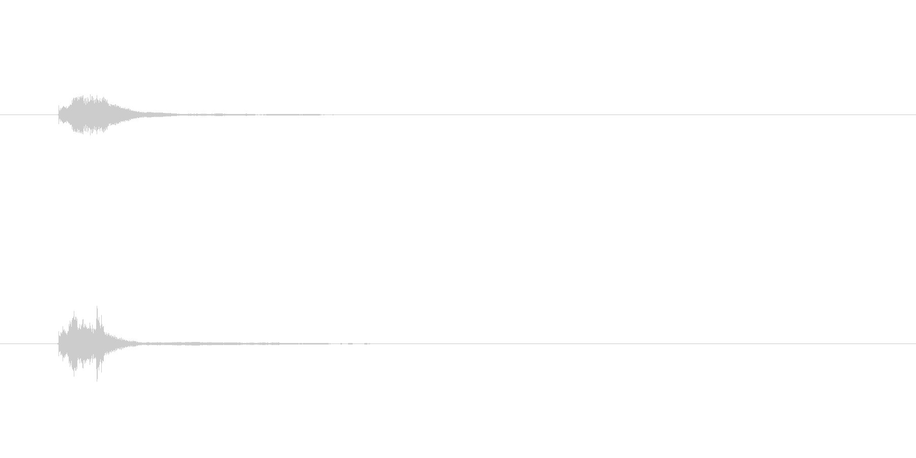ちりーん、キラーン(金属の明るい音)の未再生の波形