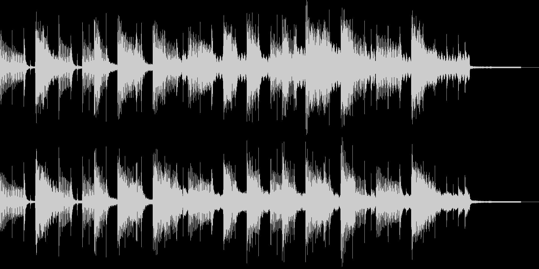 ピアノが奏でるBGMの未再生の波形