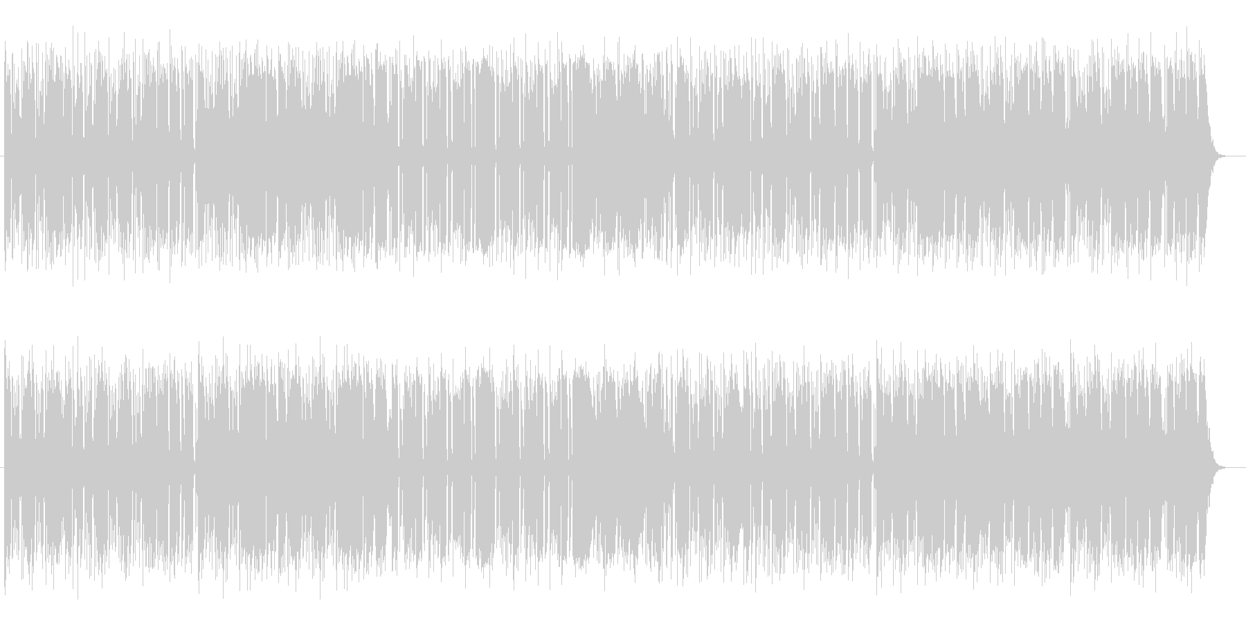 ピアノがおしゃれなシンセミュージックの未再生の波形