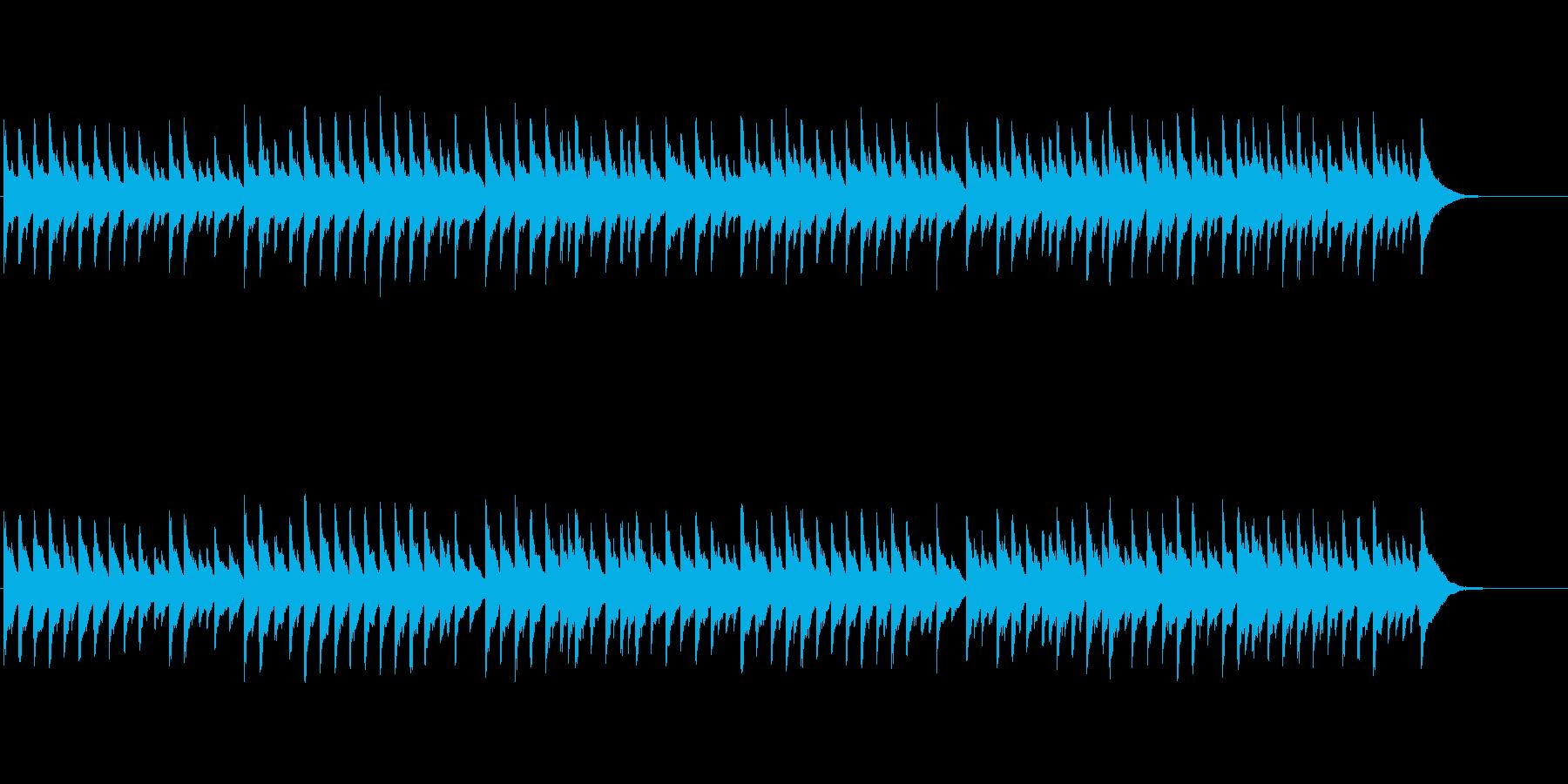 年末は第九!可愛いオルゴール風の喜びの歌の再生済みの波形