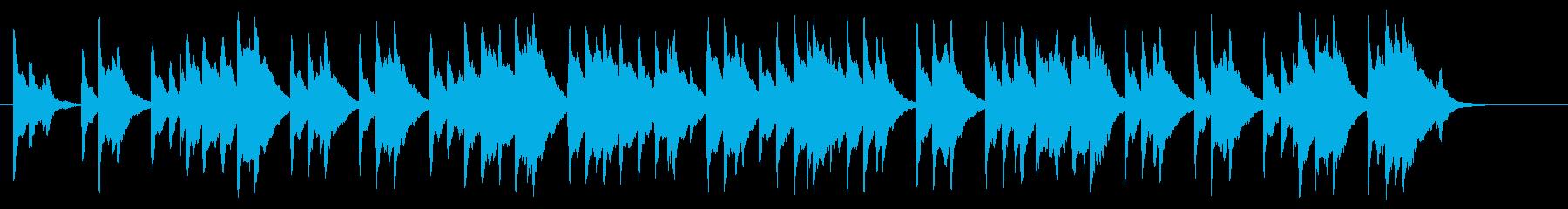 かわいいオルゴール風のワグナー結婚行進曲の再生済みの波形
