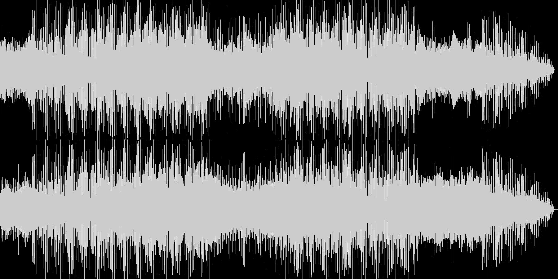 明るく優しく弾ける感じのポップス曲の未再生の波形