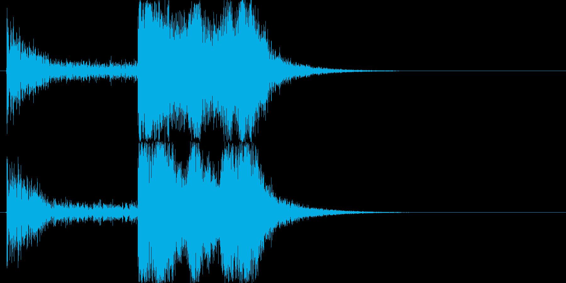 オーケストラサウンドロゴの再生済みの波形