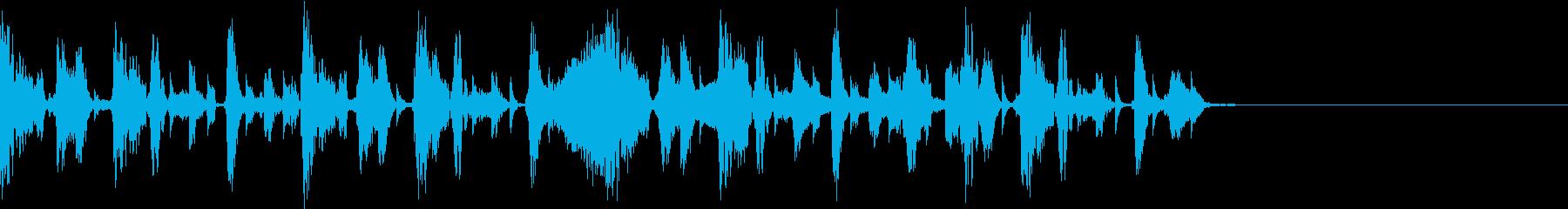 testの再生済みの波形