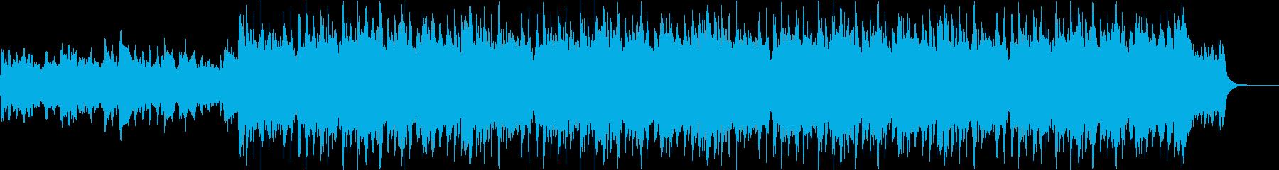 ドラマチックなサウンドの再生済みの波形