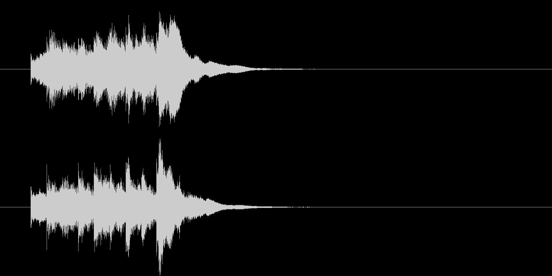 琴の駆け上がり音(ステレオ)の未再生の波形