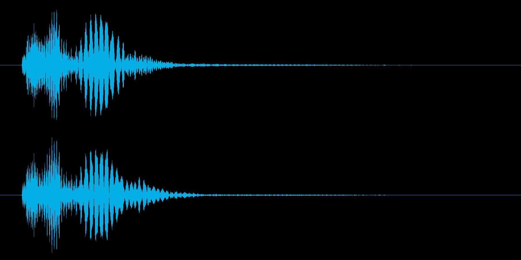 ぽよーん、と揺れる音です。の再生済みの波形