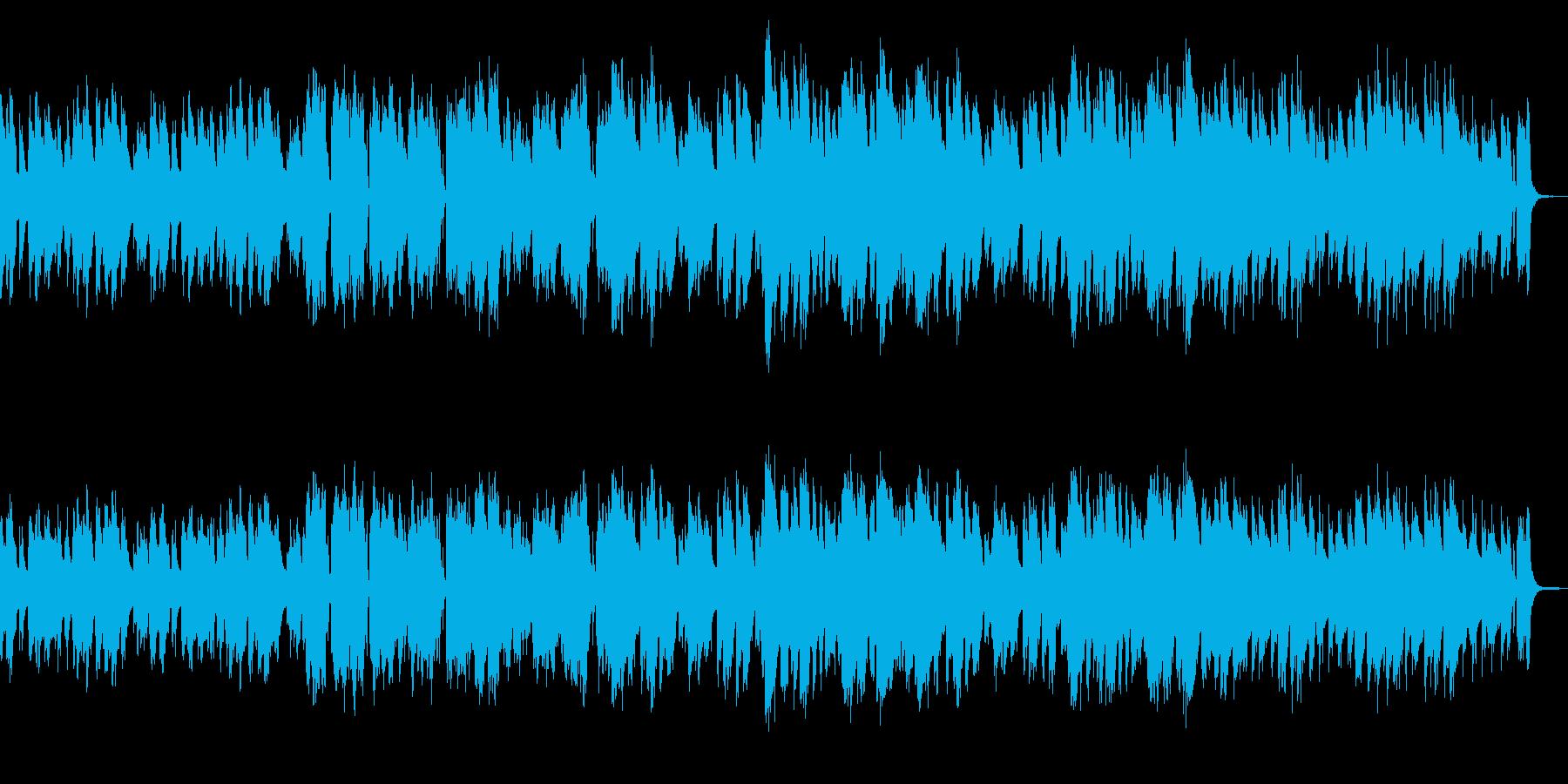 ほのぼの平和なアコギとフルートの再生済みの波形