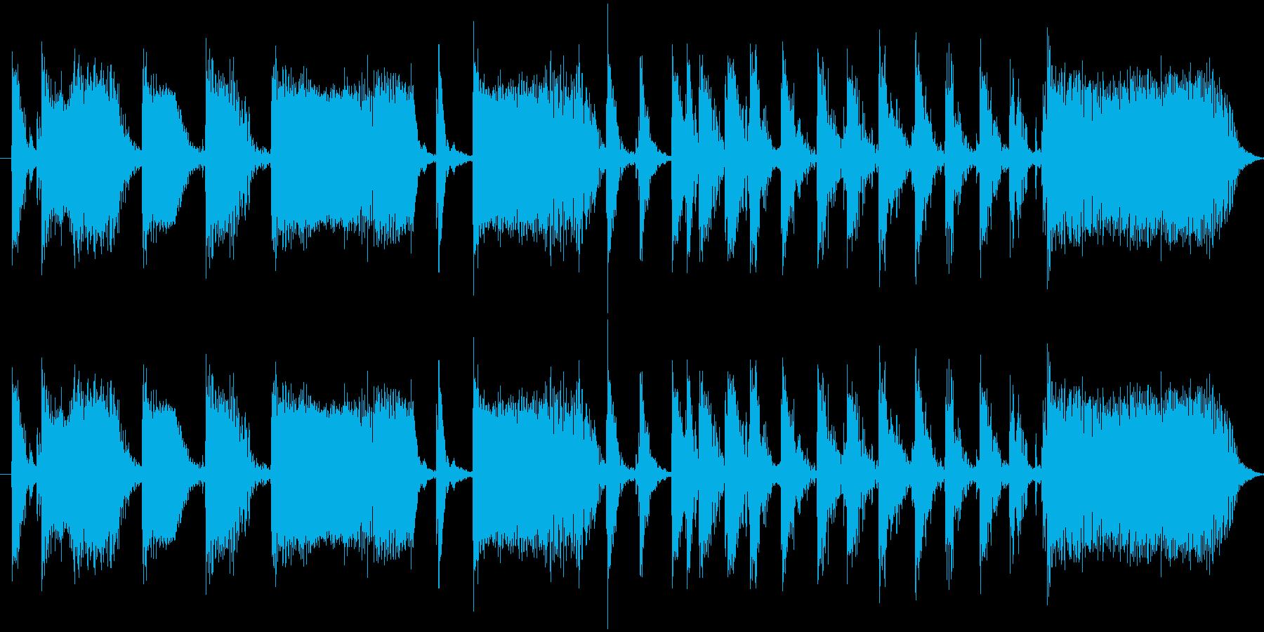 【エレキ ギター】カッティング・フレーズの再生済みの波形