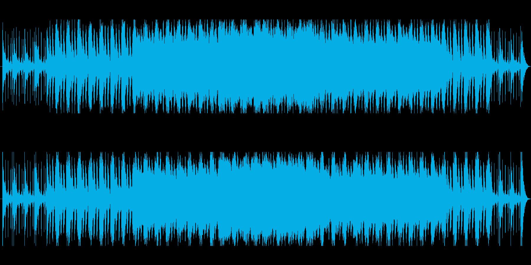 軽快なオーケストラ。ボレロ風の再生済みの波形