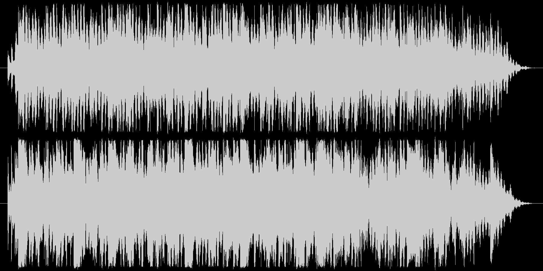 穏やかに寝ている猫の姿を見て作った曲の未再生の波形