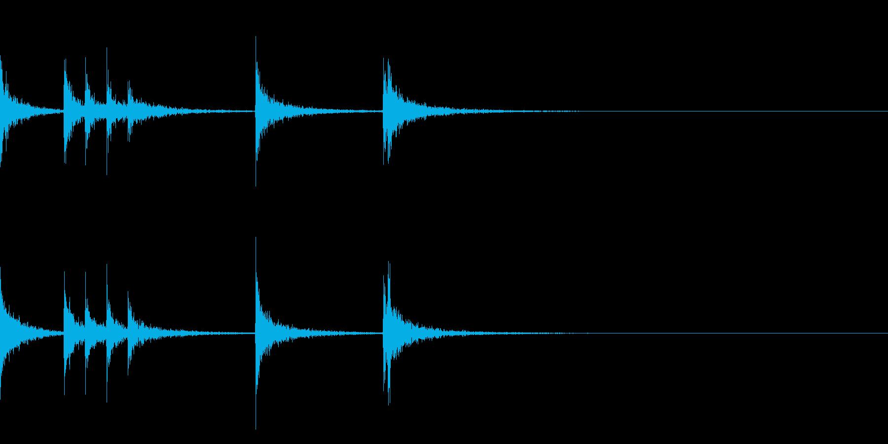 カスタネット!フラメンコフレーズ4の再生済みの波形