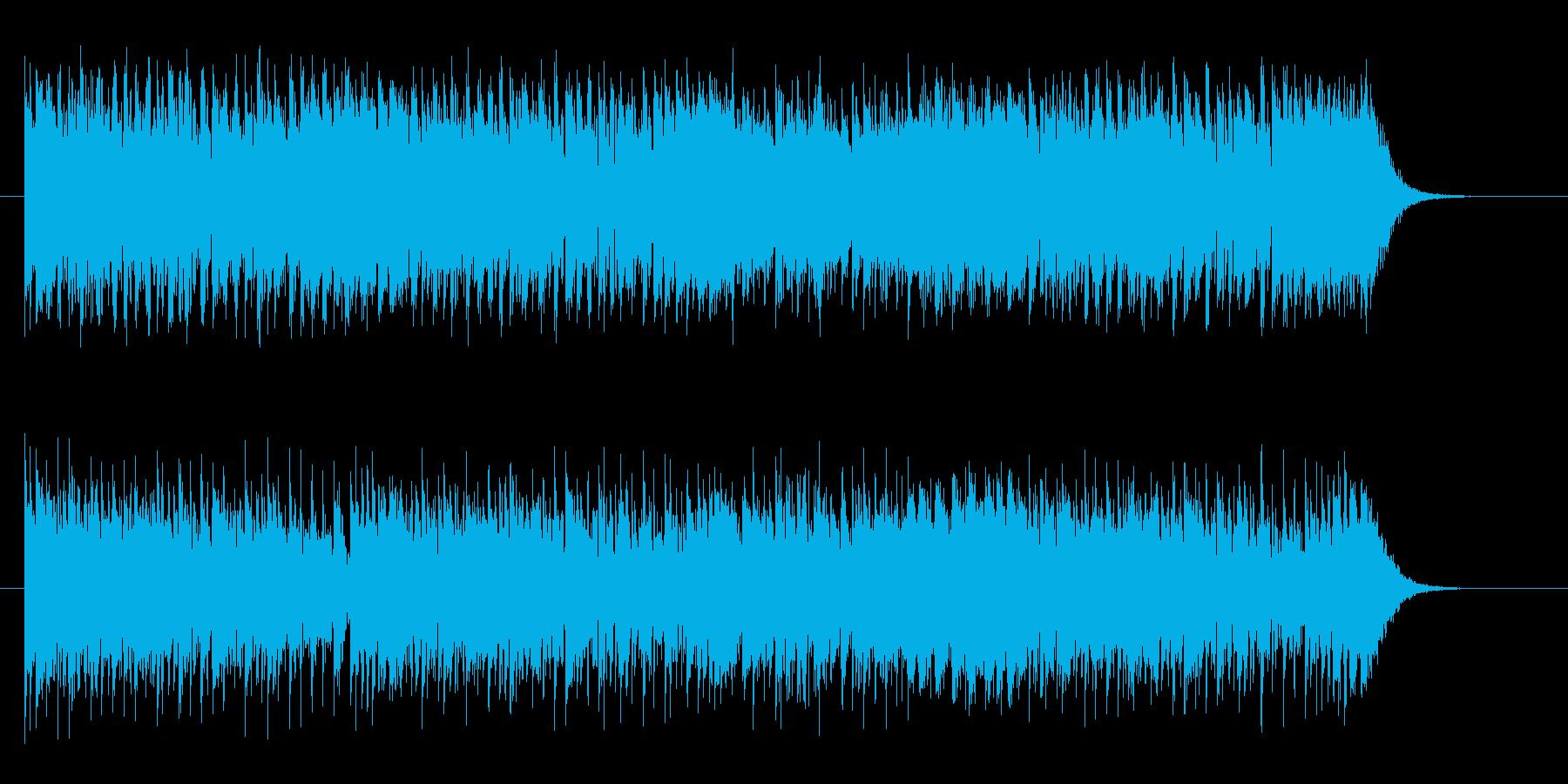 疾走感のあるシンセサイザーサウンドの再生済みの波形