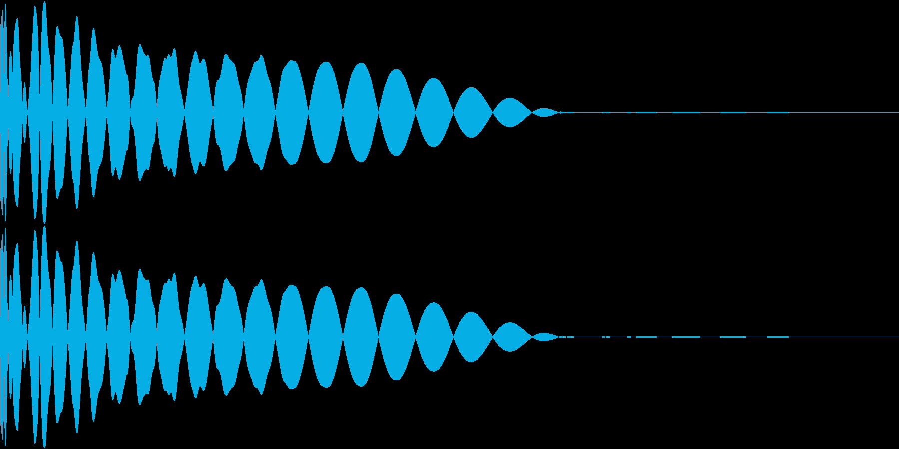 DTM Kick 34 オリジナル音源の再生済みの波形